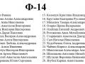Список ф-14