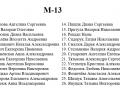 Список м-13
